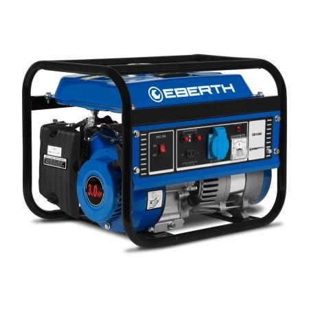EBERTH Generador eléctrico gasolina 1000W y 3 CV