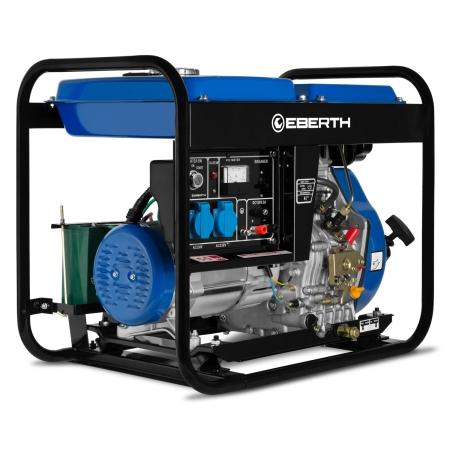EBERTH Generador eléctrico con motor diesel 10 CV / 6.6 kW.