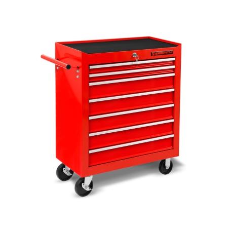 EBERTH Carro de herramientas con 7 cajones de color rojo