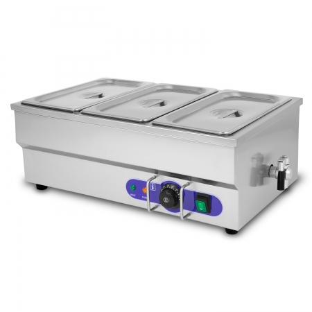 Vertes calentador de comida para Buffets con 3 recipientes