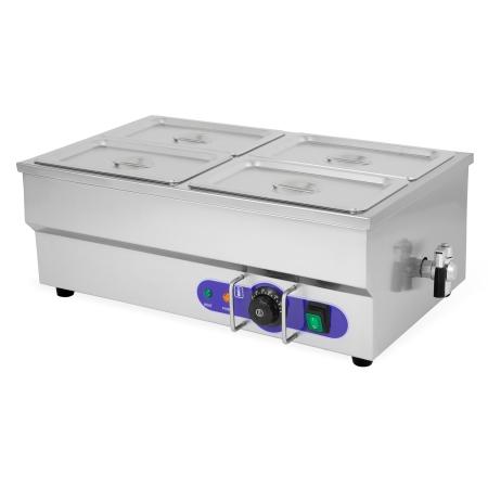 Vertes calentador de comida para Buffets con 4 recipientes