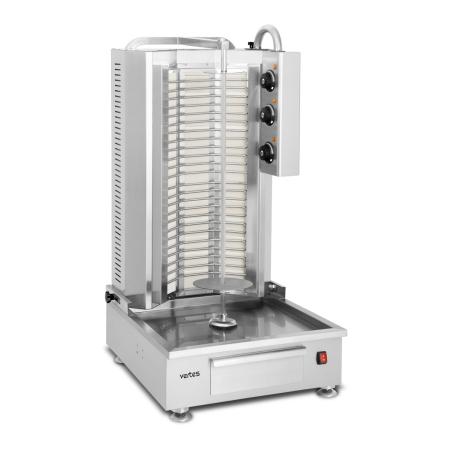 Vertes Parrilla eléctrica para asar Schawarma con 3 zonas de calefacción