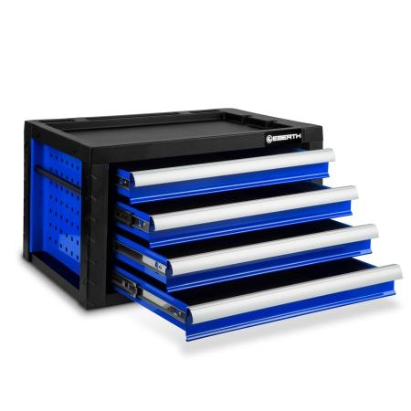 EBERTH Caja de herramientas con 4 cajones azul