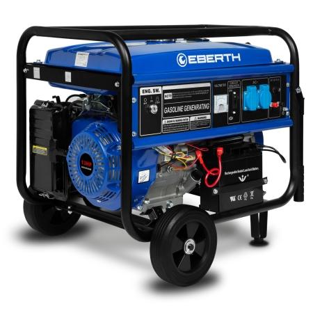 EBERTH Potente generador de energía con 13 CV / 9.56 kW / E-Start