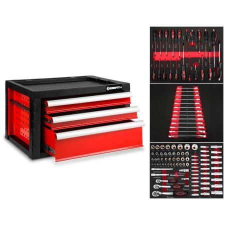 EBERTH Caja de herramientas con 3 cajones incl. herramientas
