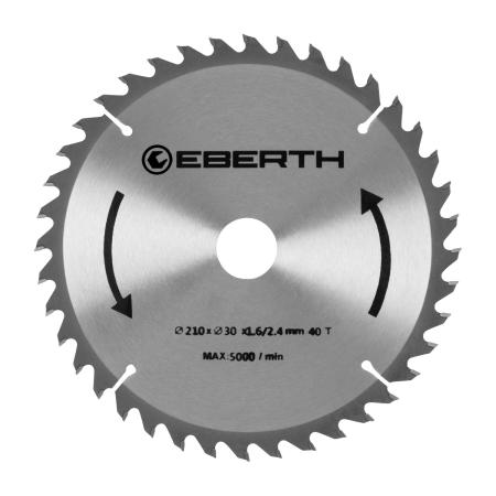 EBERTH Disco de sierra con un diámetro de 210 mm