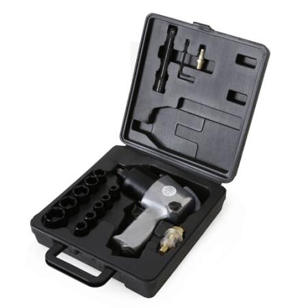"""EBERTH Pistola neumática de impacto de 576 Nm. Juego de 17 Piezas  1/2"""""""