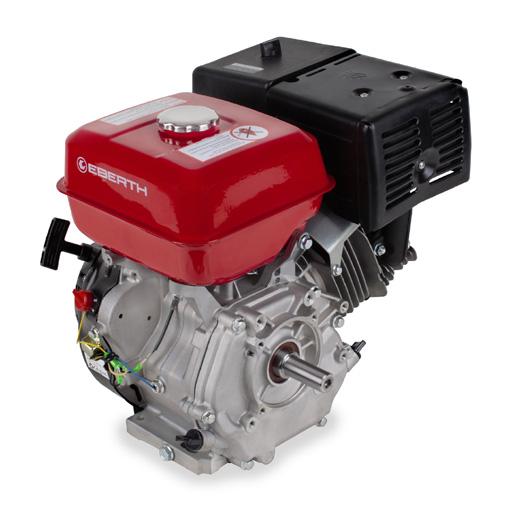 EBERTH Motor de gasolina 13 cv 1 cilindro con 4 ritmos con árbol de 25 mm